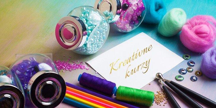 Kreatívne kurzy pre šikovné ruky - maľovanie na hodváb, porcelán, decoupage či výroba náramkov