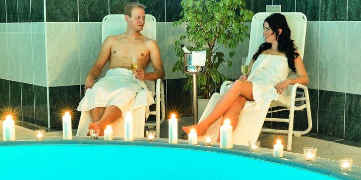 Romantická trojchodová večera s prípitkom a wellness v kaštieli. TIP na darček!