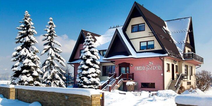 Pobyt pre dvoch v Hoteli Oberża Pod Różą - lyžiarske stredisko alebo Terma Bialka vzdialené iba 15min od ubytovania!