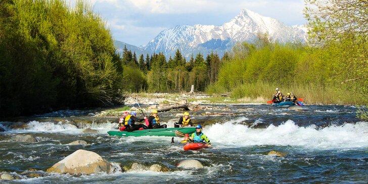 Až 3 dni raftingu na riekach Belá - Hornád - Váh aj s ubytovaním!