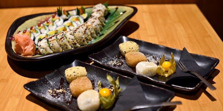 Lososové a maslovkové sushi s predjedlom a Mochi guľkami - 24 kúskov pravého Japonska!