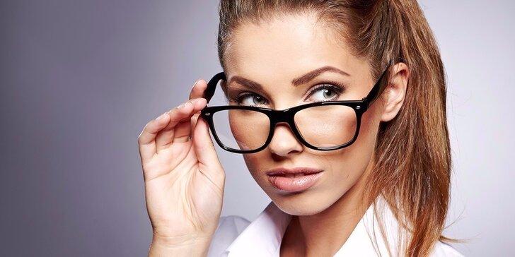 Kvalitné dioptrické sklá, vyšetrenie zraku očným lekárom a zľava na značkové rámy