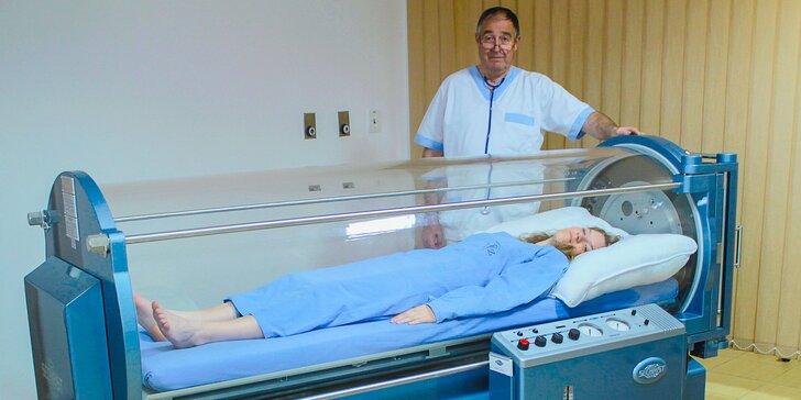 Hodinová liečba zdravotných problémov v hyperbarickej komore