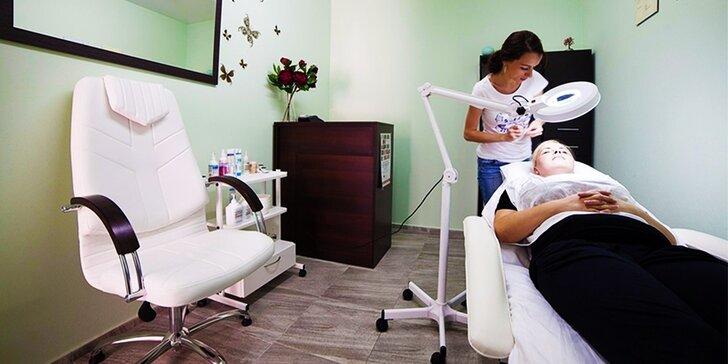 Omladenie kyselinou hyalurónovou, ošetrenie pleti ultrazvukom a arganovou maskou alebo hĺbkové čistenie pleti