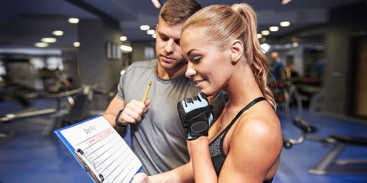 Vypracovanie tréningového plánu s diagnostikou tela, osobnou konzultáciou s trénerom a možnosťou tréningu