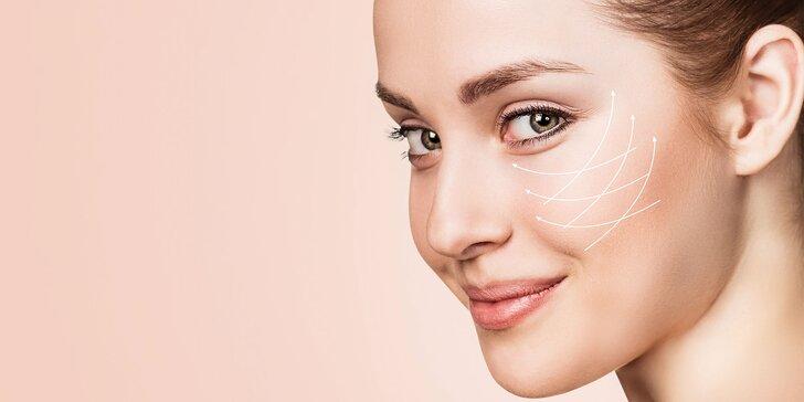 Liftingové ošetrenie očného okolia podtlakovou rádiofrekvenciou s endomasážou + kyslíková terapia so sérom