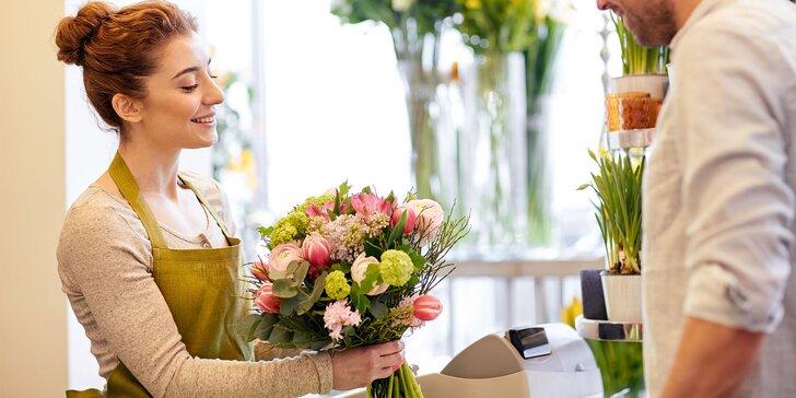 Zľavový voucher v hodnote 15 € na nákup kvetov - nezabudnite na Deň žien