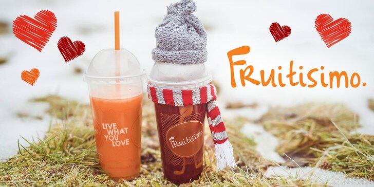 2 pollitrové drinky Fruitisimo plné lásky a zdravia - Srdcovka a Valentín
