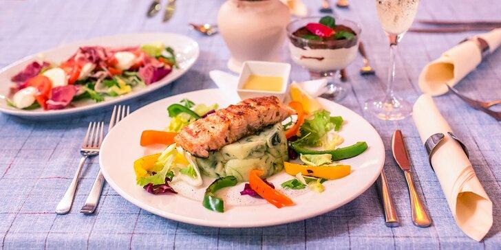 Romantické 4-chodové menu v Mediterrane
