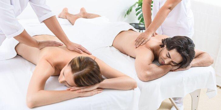 Párová senzuálna relaxačná celotelová olejová masáž s champi masážou hlavy