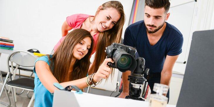 "Fotografické workshopy ""Reklamná fotografia skla"" alebo ""Portrét"""