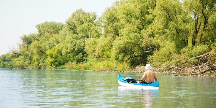 Splav Malého Dunaja na kanoe + deti do 6 rokov zdarma