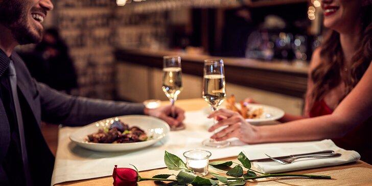 Štyri chody chutnej romantiky pre 2 osoby