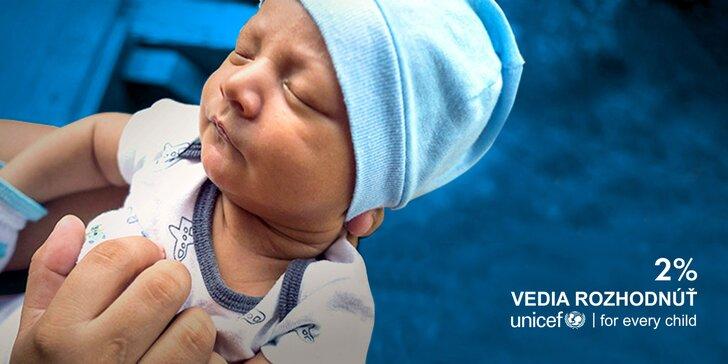Darujte 2% z daní UNICEFU do konca marca!