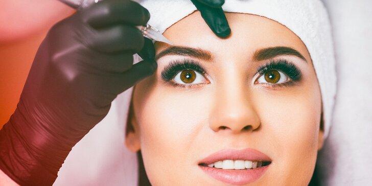 Permanentný make up obočia, liniek a pier