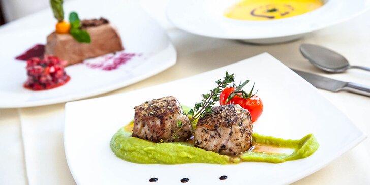 Trojchodové degustačné menu pre gurmánov