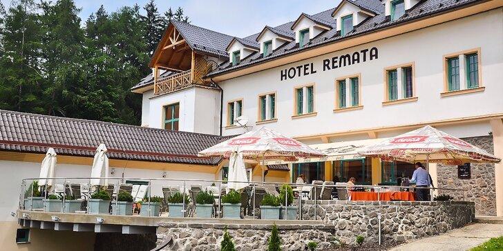 Jarný pobyt s wellness v Hoteli Remata. Polpenzia + dieťa do 12 rokov ubytovanie aj so stravou zadarmo