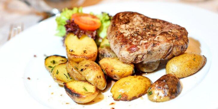 Hovädzí steak Rib Eye, steak zo sviečkovice alebo bravčový steak