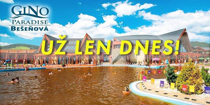 GINO PARADISE Bešeňová – využijete aj v Tatralandii!