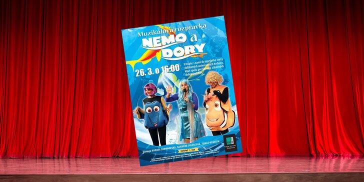 Vstupenka na muzikálovú rozprávku pre deti Nemo a Dory