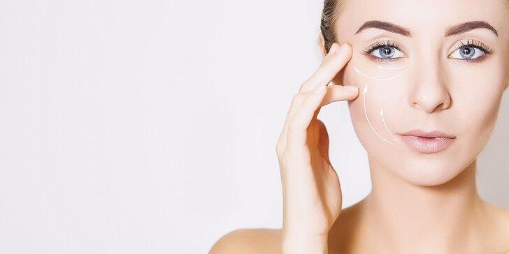Neinvazívny lifting očných viečok a ošetrenie dvojitej brady