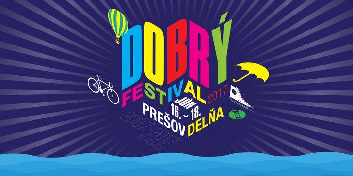 PREDPREDAJ - Jednodňová vstupenka na DOBRÝ FESTIVAL 2017 (10. ročník)
