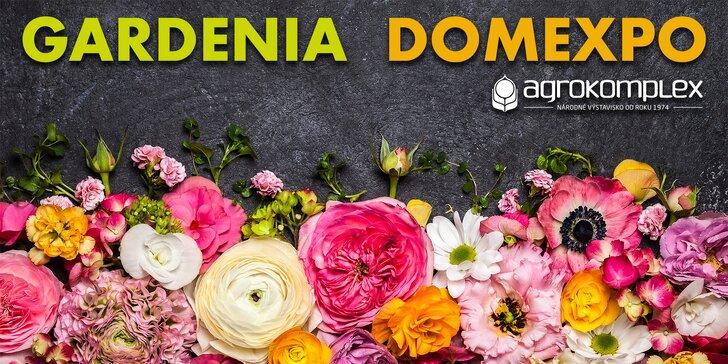 Lístok s prednostným vstupom na výstavu GARDENIA a DOMEXPO 2017