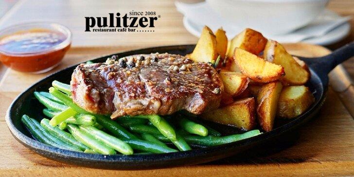 Hovädzí entrecôte steak (Rib eye) s domácou slepačou polievkou!