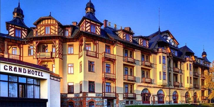 Wellness pobyt v Grand Hoteli Starý Smokovec vo Vysokých Tatrách