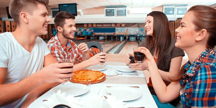 Hodinový prenájom bowlingovej dráhy a k tomu čerstvo upečená voňavá pizza pod zub!
