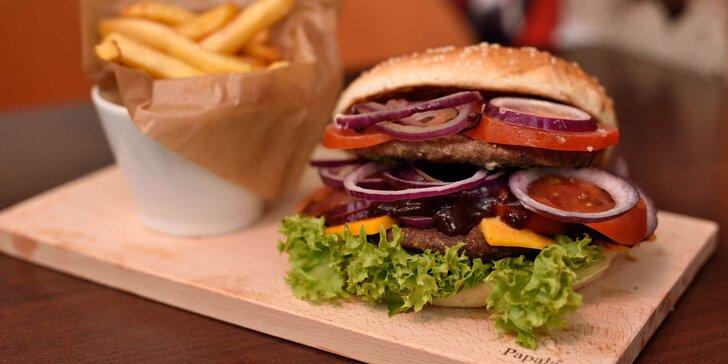 Ponuka burgrov z kvalitného hovädzieho mäsa v Le Petit!