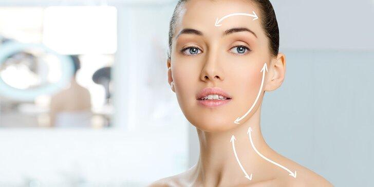 Anti-ageing ošetrenie pleti a odstránenie dvojitej brady