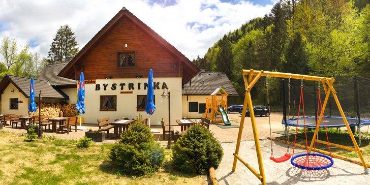 Dovolenka v obľúbenom penzióne Bystrinka s novým horským wellness na južnej strane Nízkych Tatier
