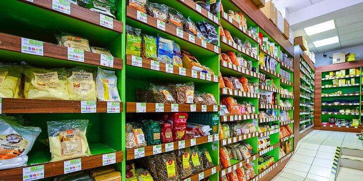 Voucher na zľavu 15 % na nákup bio potravín v Biolande