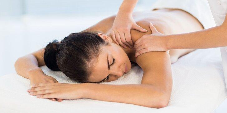 Klasická relaxačná masáž chrbta alebo celého tela