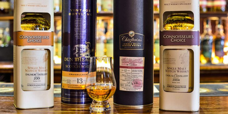 Degustácia štyroch druhov whisky aj s odborným výkladom