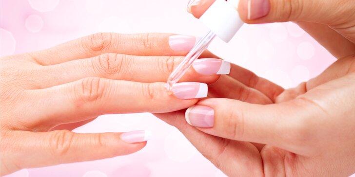 Japonská manikúra na lámavé nechty a parafínový zábal