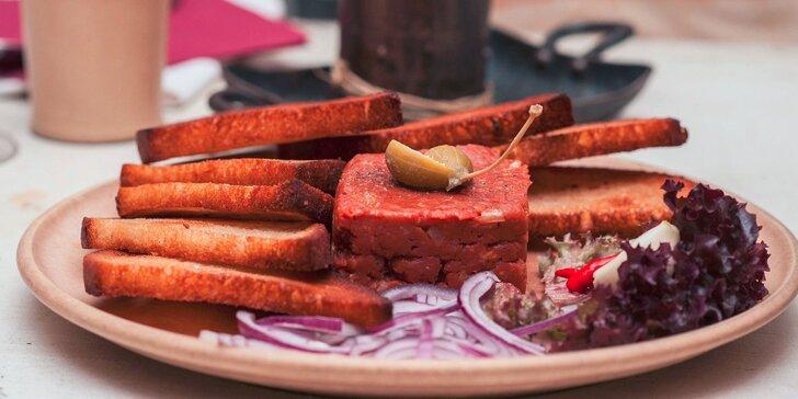 Tatársky biftek z pravej argentínskej sviečkovice