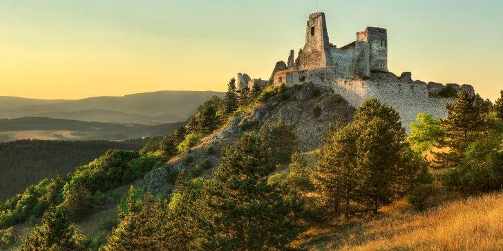 Turistika aj tajomná legenda: pobyt s polpenziou a prehliadkou Čachtického hradu