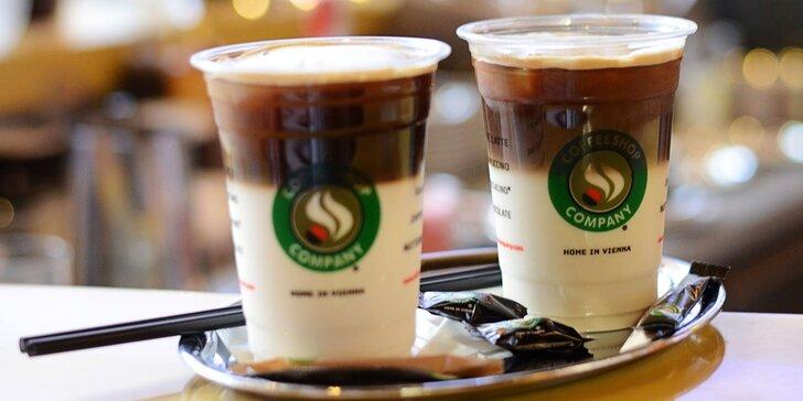 2x Ľadové Iced Coffee Latte aj s príchuťou v Coffeeshop Company