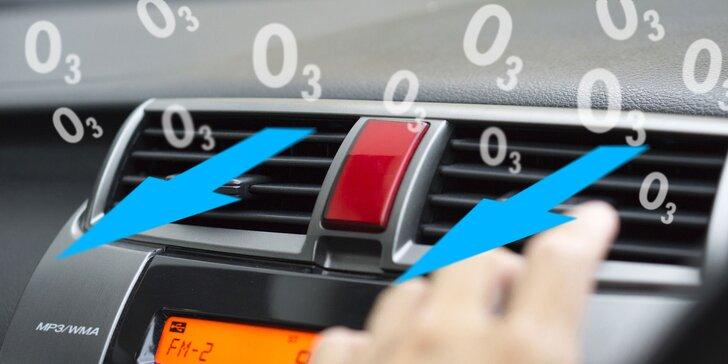 Dezinfekcia interiéru auta ozónom alebo servis klimatizácie