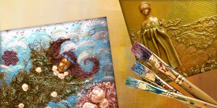 Kreatívne kurzy tvorby obrazov z paverpolu alebo decoupage na drevo a plátno