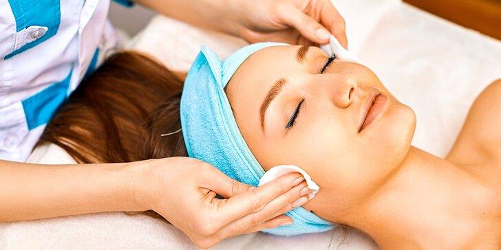 Hĺbkové čistenie pleti so skin scrubberom a klasickou masážou tváre