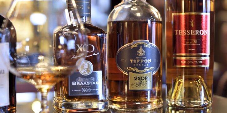 Degustácia 5 vzoriek vzácnych druhov rumov, whisky alebo koňakov