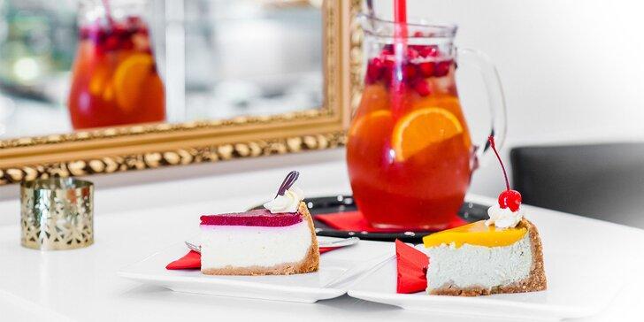 Jedinečné domáce limonády a cheesecake pre 2 osoby v Art cakes