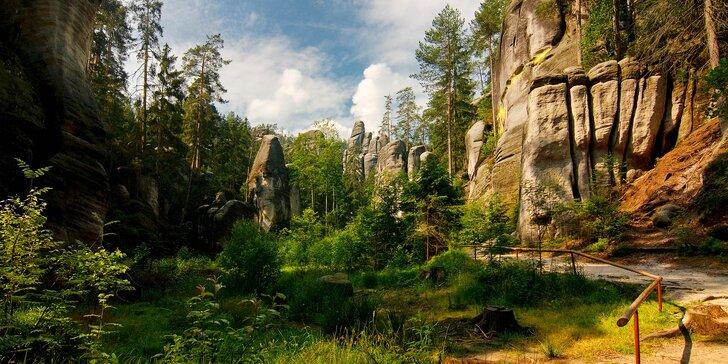 Jesenný pobyt v rozprávkových Adršpašsko-Teplických skalách