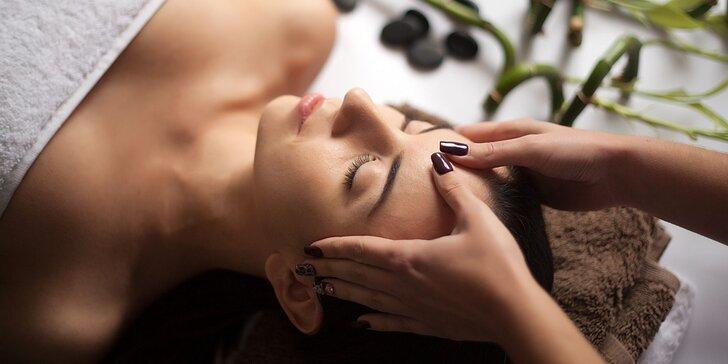 Olejová kozmetická masáž tváre alebo rádiofrekvencia tváre s kys. hyalurónovou