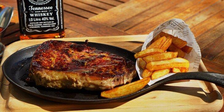 Rump steak, flank steak alebo steak z juhoamerickej sviečkovice v reštauráciách Pulitzer family