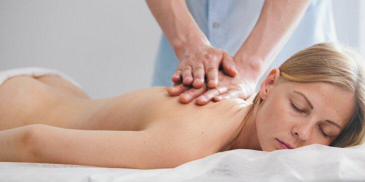 Klasické masáže chrbta, šije a bedrových kostí alebo celotelové masáže