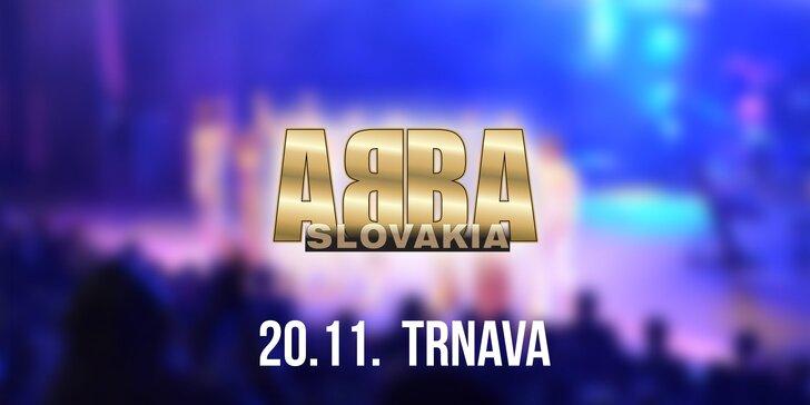 Vstupenky na koncert ABBA SLOVAKIA TOUR Trnava!